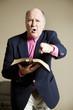 Leinwandbild Motiv Hellfire and Brimstone Preacher