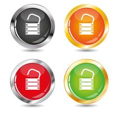Open padlock buttons