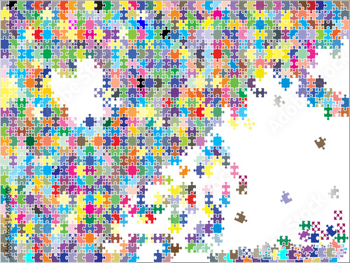 colorful background puzzle, vector
