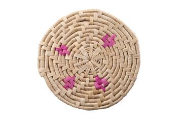 Round handmade colored mat