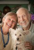 Fototapety Senior Couple With Dog