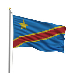 Flag of the Democratic Republic of the Congo over white