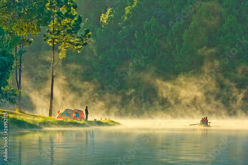 In the morning,Pang Ung, Maehongson, Thailand
