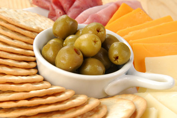 Stuffed Manzanilla Olives and Crackers