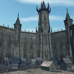 Die Stadt in der sicheren Burg