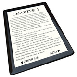 E-Book Reader with Novel on Screen