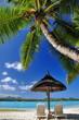 Relax et parasol à la plage.