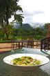 caesar salad with beautiful scenic