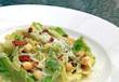 closeup of caesar salad