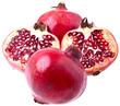 Granatäpfel - schattenfrei freigestellt