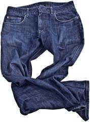Jeans - schattenfrei isoliert über weißem Hintergrund