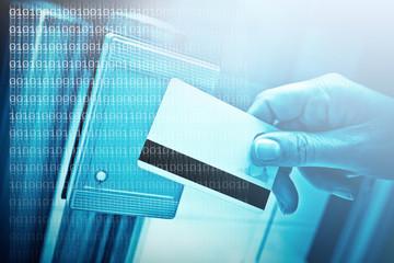 accès badge sécurité identification surveiller bleu code