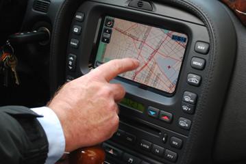 Fahren mit dem Navigationssystem