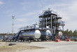 Factory on oil refining