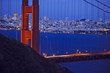golden gate bridge and city of san francisco at twilight