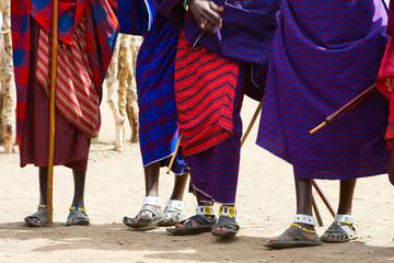 Closeup of Masai tribe
