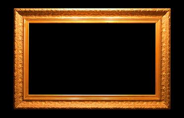 Old antique golden frame