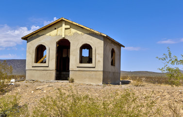 Unfinished Chapel on Arizona Indian Reservation
