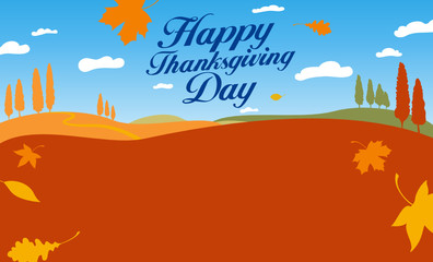 Illustration for happy thanksgiving day celebration.