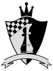 Chess crest. Vector illustration