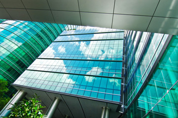 Reflection Cloud, Modern Building, Bangkok, Thailand