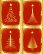 Golden Christmas tree design. Vector-Illustration.