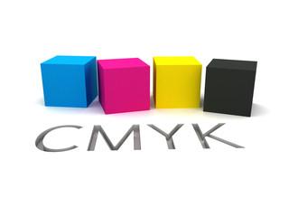 3D CMYK Ink Cubes