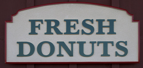Fresh Donuts Sign