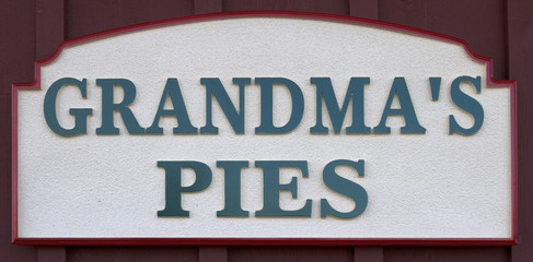 Grandma's Pies Sign