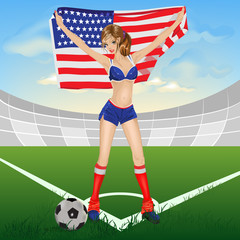 The girl USA soccer fan