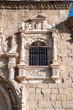 Beautiful  window of  Santa Cruz museum, Toledo, Spain