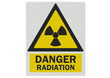 'Danger - radiation' photo realistic metallic reflective sign, i