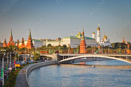 Moscow kremlin at sunset