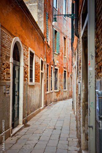 Narrow street in Venice - 26989953