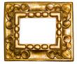 Fantasievoller Goldrahmen - Freigestellt