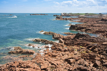 Coast of Brittany in summertime by ebbtide
