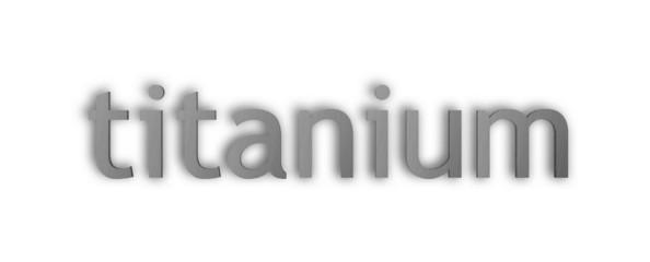 titanium text