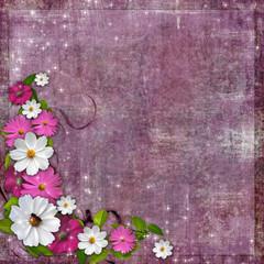 Composition floral Corner design element for Easter, wedding
