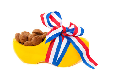gingernuts in decorated clog for Dutch sinterklaas celebration