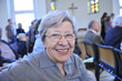 Leinwandbild Motiv Senior Woman in Church