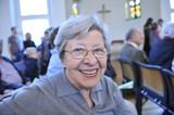 Senior Woman in Church