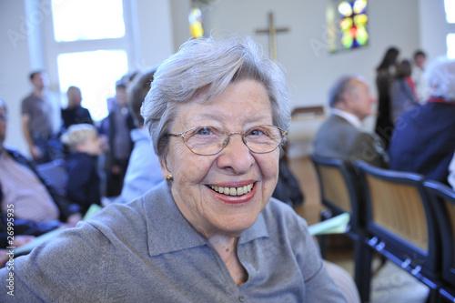 Senior Woman in Church - 26995935