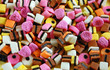 Colorful licorice candy mix