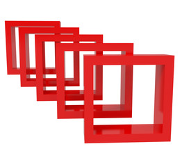Abstract Red Blocks