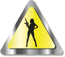 Sexy woman sign