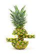 Funky cut pineapple