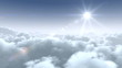 flight over clouds, loop-able cg animation, hd