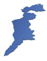 Karte des Burgenlandes
