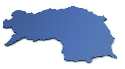 Karte der Steiermark