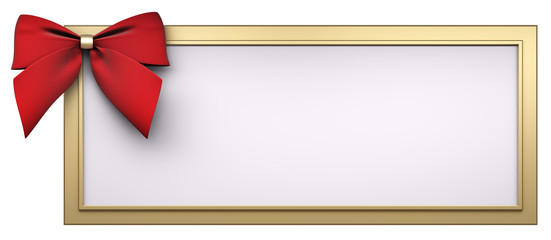 Rahmen mit rote Schleife 3d render